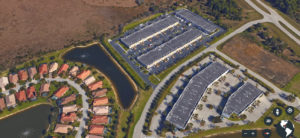 Overhead shot of Commerce Lakes Industrial/Commercial Flex Condos